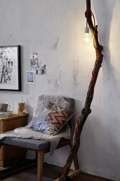 DIY - Lamp on a branch via Living at home