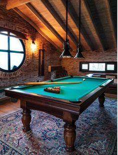 31 Ideas Home Game Room Designs – House The Design Billard Bar, Billard Design, Billards Room, Pool Table Room, Pool Tables, Country Stil, Loft Stil, Style Loft, Game Room Design