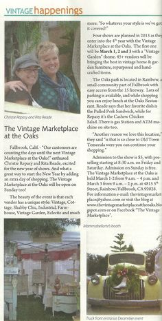 "We are featured in ""Today's Vintage Magazine"" February 2013 Issue"