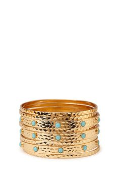 Dimpled Faux Stone Bangle Set | FOREVER21 - 1000062430
