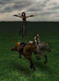 Hovering over my horse (picture by Kiivy)