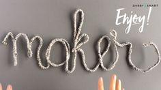 Turn Crochet into Typography