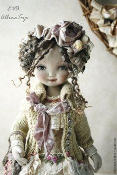 Ева. Коллекционная текстильная кукла. - бежевый,кружево,кружевной,кукла ручной работы