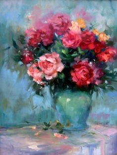 A lovely, winsome vase of flowers by Mary Maxam