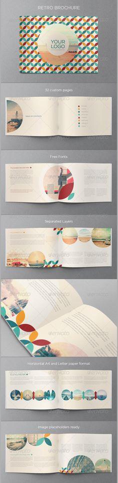 Creative Bifold Brochure Template PSD #design Download   - retro brochure template