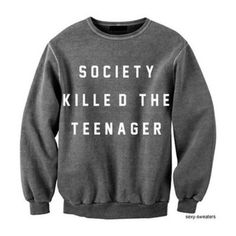 sweater sweatshirt oversized sweater society teenagers crewneck