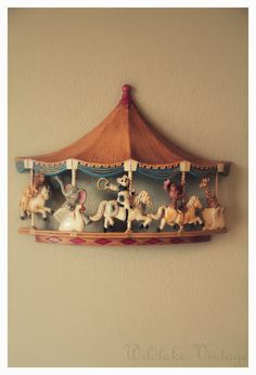 Carousel Nursery Wall Decor by WildlakeVintage on Etsy, $30.00