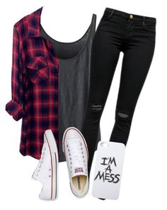"""Untitled #434"" by erika-sads ❤ liked on Polyvore featuring J Brand, Rails, Converse, LAUREN MOSHI, women's clothing, women, female, woman, misses and juniors"