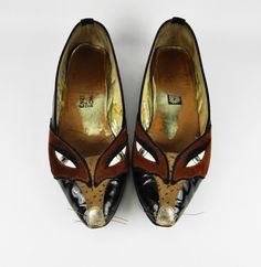 Vintage Fox Faces  ENZO of ROMA   Leather by PlanetOfTheBoots, $329.00