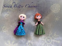 Clay frozen elsa and anna coronation dresses by SarahBettsyCharms, £17.00