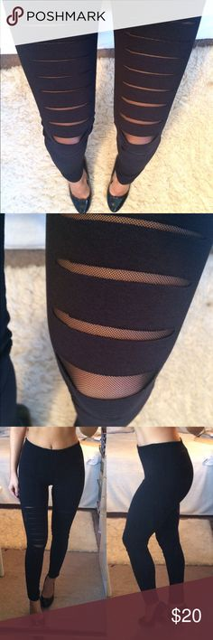 Cut out Black Leggings!  Brand-new with tags's. Stretch very well. One of a kind! Polish brand, says size 164 which fits size S the best. I'm a size S. Inseam measures approximately 29 inches, top to bottom approximately 37 inches. *Heels also available!!  Maja Pants Leggings