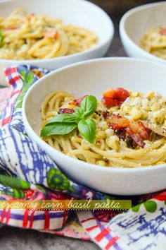 Creamy Corn Basil Pa