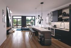 35 Wabash - Maziar Moini Broker Home Leader Realty Inc. Family Kitchen, Old Kitchen, Glass Kitchen, Kitchen Ideas, Kitchen Decor, Homemade Furniture, Cheap Furniture, Kitchen Furniture, Luxury Furniture
