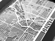 "Just in time for Valentines Day!Proudly display your favorite cities with these 5x7"" laser-cut stainless steel city maps! Each map is beautiful cut from a solid piece of stainless steel and framed in high-quality frames made right here in the USA!Be sure to choose from over 80 cities!"