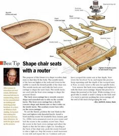 Chair Seat Scooping Jig - Woodworking Tips and Techniques WoodArchivist.com #woodworkingtips