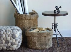 C.S. Post & Co. Seagrass Utility Baskets in various sizes  $36 to $139