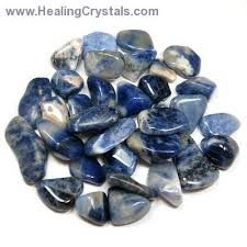 Sodalite is a receptive stone ruled by Venus and Water. It is used for healing, peace, meditation, and wisdom. It does not health the body so much as it heals the mind, allowing the user to let go of anger, hatred, nervousness, fear,and stress. This release of emotional pain has a healing effect on the body. It brings peace to those who wear it by helping them get rid of guilt and fear, relaxing the body.