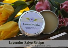 Lavender Salve Recipe (With Free Labels)