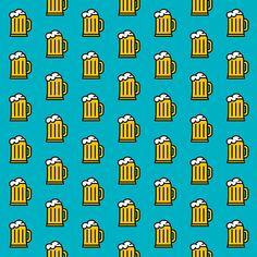 Beer Pattern - Icon Prints: Drinks Series