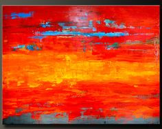 36 x 48 - Abstract Acrylic Painting - Huge Contemporary Wall Art - Highly Textured.  via Etsy.