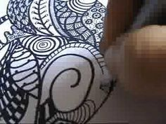 Zendalas- How to Draw a Mandala Zentangle Style with a coffee cup and your imagination.