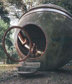 outside rome, architect giuseppe perugini built 'casa sperimentale' (experimental house). Photographed by oliverhl.