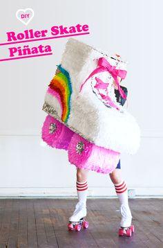 DIY Roller Skate Piñata