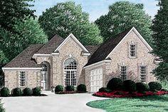 European Style House Plan - 3 Beds 2 Baths 1795 Sq/Ft Plan #34-108 Front Elevation - Houseplans.com