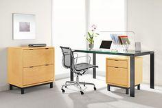Rand Desks in Natural Steel - Modern Desks & Tables - Modern Office Furniture - Room & Board
