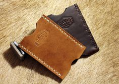"""Made from your choice of beautiful Horween Natural Dublin or Brown Chromexcel, this little card sleeve is just right for sliding in the front pocket of your pants or jacket and carrying those important cards or perhaps a little cash! Measuring 3-3/4"""" high x 2-3/4"""" wide, it's small enough to not be bothersome but still large enough to hold up to 12 cards when worn in! THe little notch at the bottom will help you easily retrieve your cards without having to """"dig the..."""