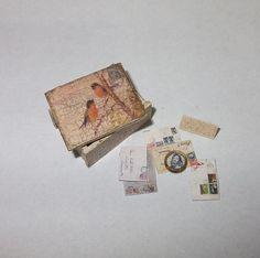 Dollhouse miniature vintage style box scale 1/12 by Teruka on Etsy
