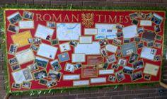 The Romans - classroom display Class Displays, School Displays, Classroom Displays, Ks2 Display, Display Ideas, Ks2 Classroom, Classroom Decor, Romans Ks2, Latin Language