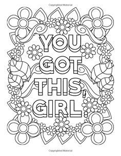 361 Best Coloring: Inspirational Words images | Coloring books ...