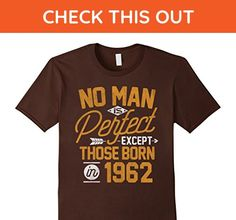 Mens 55th Birthday Shirt for 55 Years Old No Man Is Perfect 1962 Small Brown - Birthday shirts (*Amazon Partner-Link)