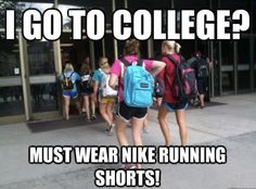 LOL - ummm when I was in college we wore Umbro soccer shorts. What comes around goes around! Errr what goes around comes around?