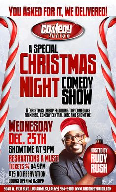 The Comedy Union - Wednesday - A Special Christmas Night Comedy Show Wed, 12/25