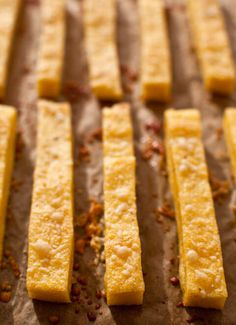 You can't stop at just one of these Baked Parmesan Polenta Fries. They are are a total crowd pleaser, are gluten free, and great as a supper side.