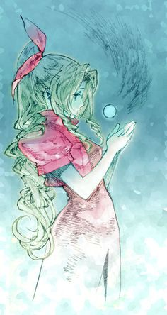 Akihiko Yoshida's design  Final Fantasy VII Aerith:: lol I remember watching my bro play this, that's a cool pic