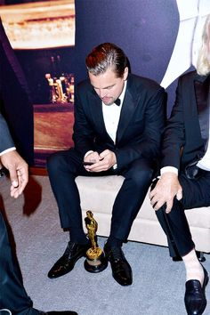 Leonardo DiCaprio at the 2016 Vanity Fair Oscar Party Hosted By Graydon Carter at Wallis Annenberg Center for the Performing Arts on February 28,