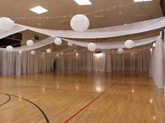 Ugly gym reception weddings do it yourself wedding forums drapes and lights not the lanterns gym wedding receptionindoor wedding junglespirit Choice Image