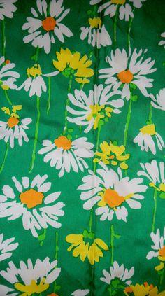 Vintage 1960s Fabric Motifs Textiles, Vintage Textiles, Textile Patterns, Vintage Patterns, Vintage Prints, Vintage Floral, Flower Patterns, Flower Designs, Print Patterns
