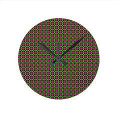 Green and Purple Clock!  #zazzle #store #pattern #gift #present #customize #simple http://www.zazzle.com/patternsbydww25921*