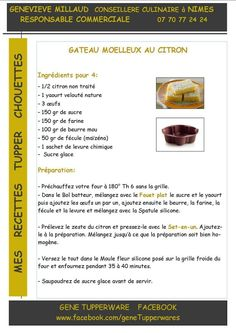 Dessert - Gateau moelleux au citron - Tupperware Tupperware Pressure Cooker, Tupperware Recipes, Angel Cake, Biscuit Cookies, Cocktail Drinks, Cocktails, Easy Desserts, Biscuits, Snacks