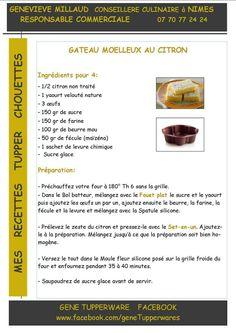Dessert - Gateau moelleux au citron - Tupperware