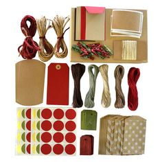 Natural & Red Packaging Kit.