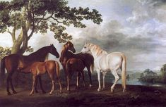 Stubbs - mares and foals in a landscape. 1763-68. Tate Britain. - George Stubbs - Wikipedia, the free encyclopedia