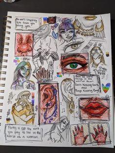 Art Journal Inspiration, Art Inspo, Arte Grunge, Gcse Art Sketchbook, Art Diary, Funky Art, Art Drawings Sketches Simple, Hippie Art, Psychedelic Art