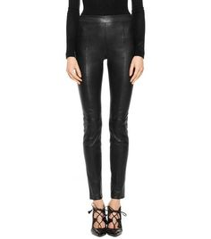 Tory Burch Ally leather pant. Very flattering & sleek. They run big -- so size down.