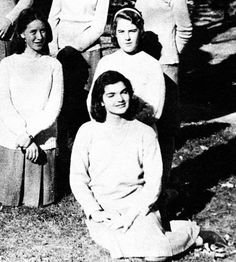 "youngfirstlady:  "" Jacqueline Bouvier in her sophomore year of high school, 1940s  """