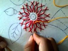 Cable Chain Stitch used in hand embroidery. For more information on the cable chain stitch and other hand embroidery stitches, visit Needle 'n Thread: www. Silk Ribbon Embroidery, Embroidery Thread, Embroidery Applique, Cross Stitch Embroidery, Embroidery Patterns, Flower Embroidery, Embroidery Stitches Tutorial, Embroidery Techniques, Do It Yourself Upcycling